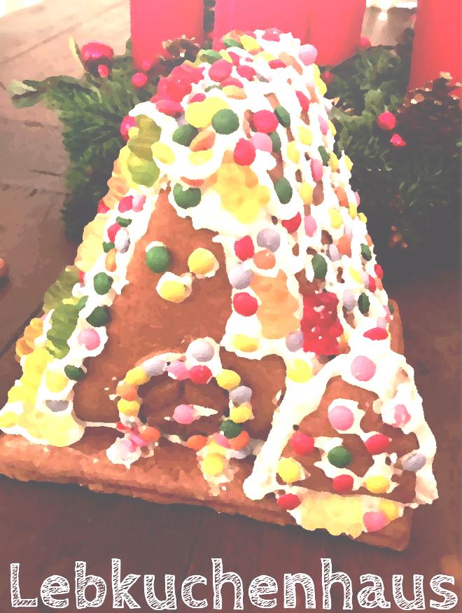 adventszeit ein lebkuchenhaus mit kindern selber basteln. Black Bedroom Furniture Sets. Home Design Ideas
